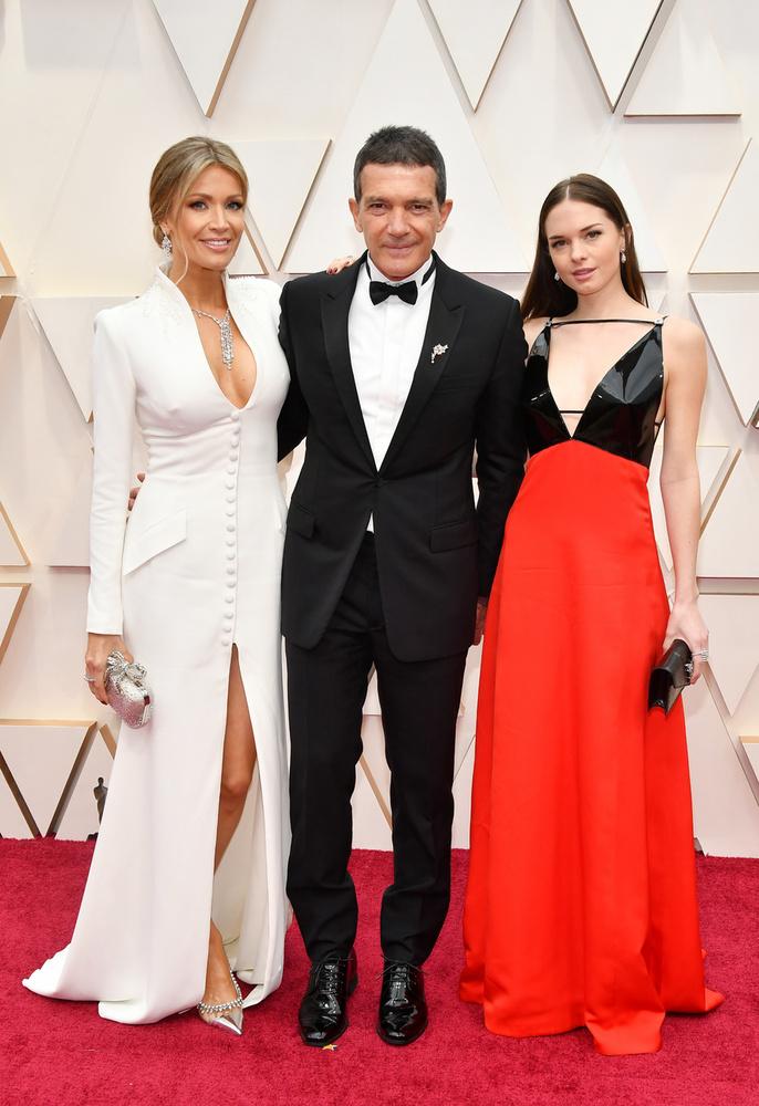 Nála jóval visszafogottabb volt a lányával és szerelmével érkező Antonio Banderas.
