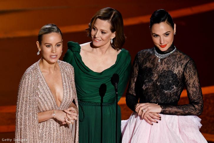 Brie Larson, Sigourney Weaver és Gal Gadot