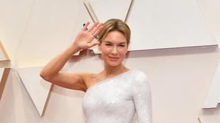Renée Zellweger úgy érkezett az Oscarra, mint aki előre tudja, hogy nyerni fog