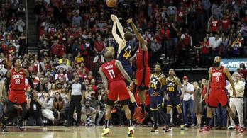 Utolsó másodperces triplával nyert a Jazz a Rockets ellen