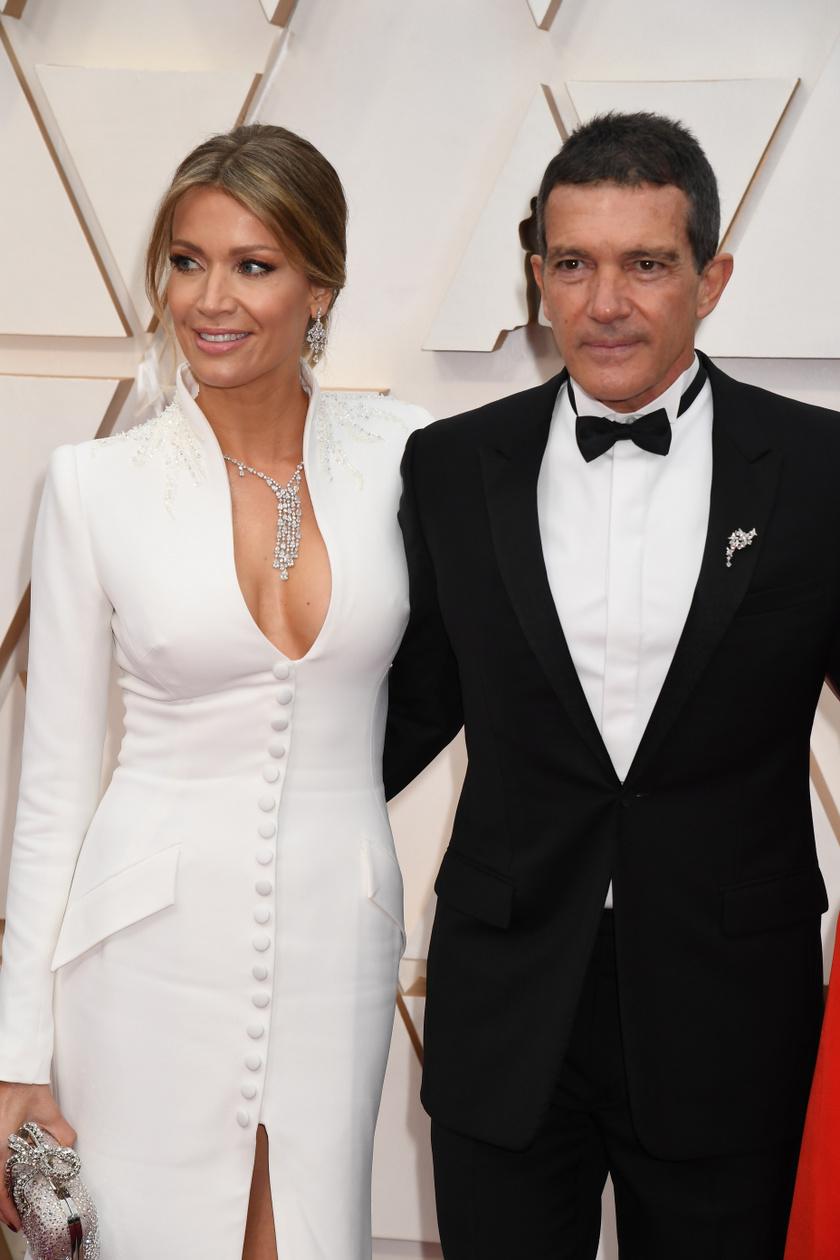 Antonio Banderas és a 21 évvel fiatalabb Nicole Kimpel nagyon elegánsak voltak.