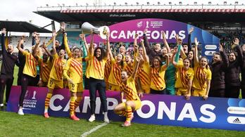 A Barcelona női futballcsapata tíz gólt lőtt a Szuperkupa-döntőn