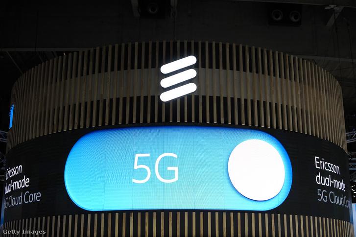 5G Ericsson logó a 2019-es Mobile World kongresszuson