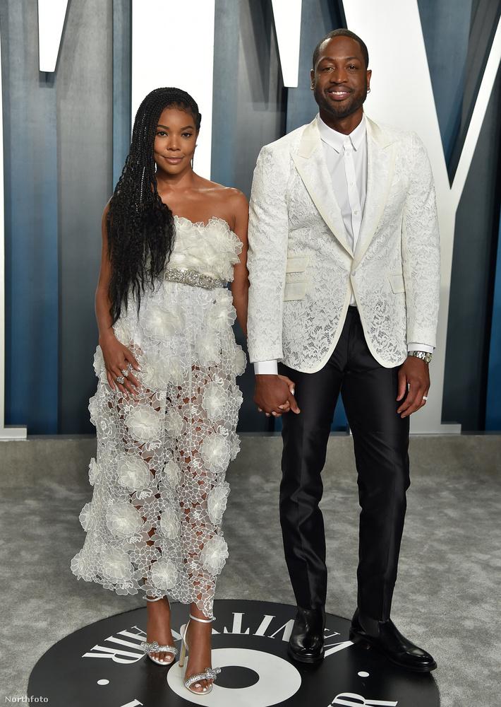 Gabrielle Union színésznő és kosárlabdázó férje, Dwayne Wade nemhogy kézenfogták egymást, össze is vannak öltözve!