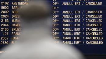 Több Budapestet érintő járatot kellett törölni az Európában kialakult viharok miatt