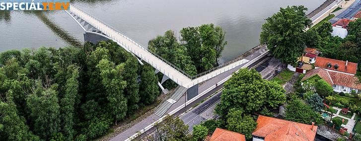 Látványterv a hídról, a rámpával
