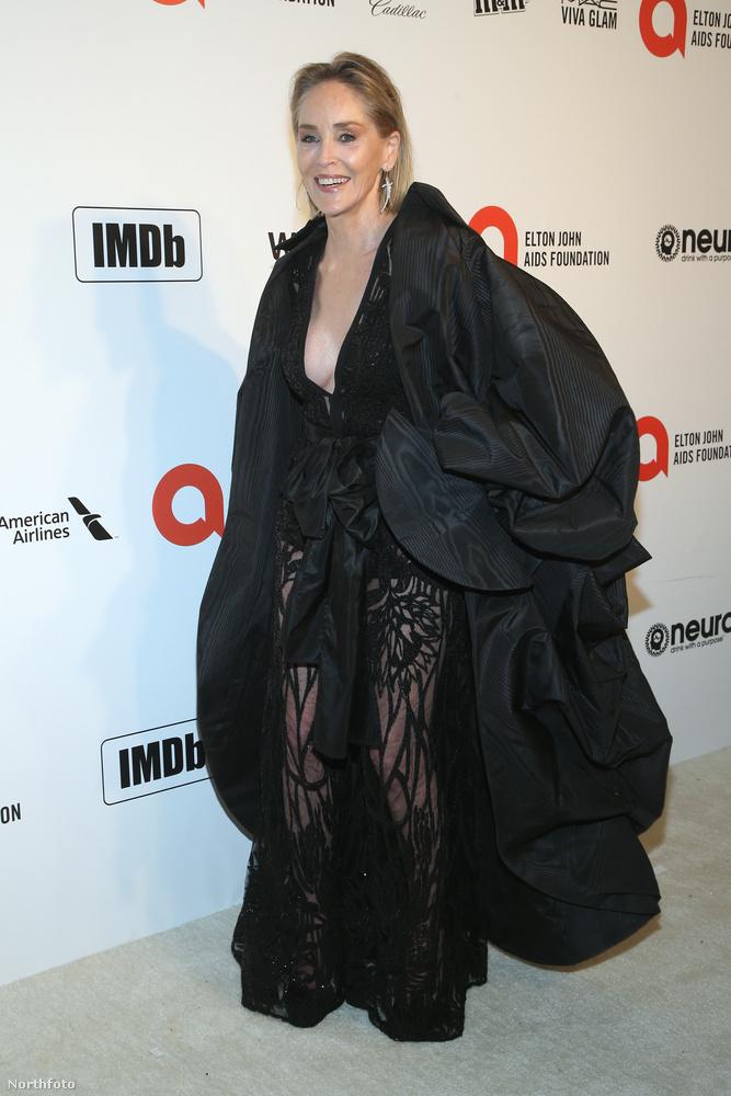 Az elemi döbbenetet nálunk Sharon Stone megjelenése váltotta ki: a színésznő egyidejűleg volt szuperdekoltált és átlátszó ruházatban, a kabátja pedig, bár biztosan drága dizájner darabról van szó, leginkább egy ejtőernyőre emlékeztet.