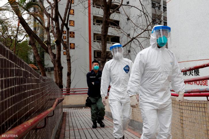 Hongkongban evakuálnak egy társasházat 2020. február 11-én