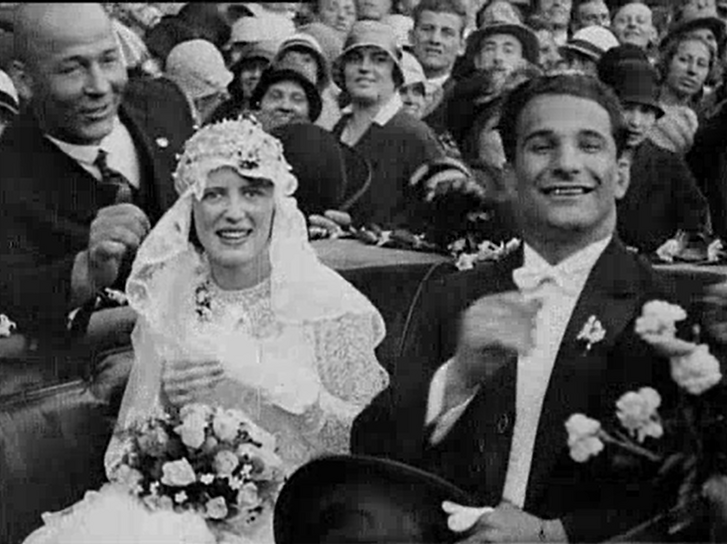 Keresztes Lajos birkózó-világbajnok esküvője, 1929. június