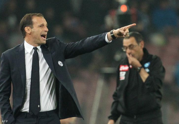 Allegri még Juve-edzőként, a háttérben Sarri, még a Napoli élén