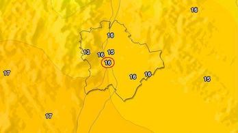 Hétfőn megdőlt a 95 éves fővárosi melegrekord