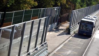 Átlátszó zajvédő fal épül az M3-as kivezetőnél