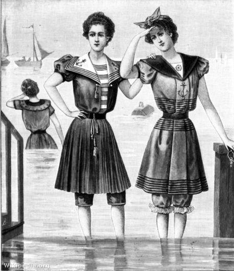 Fürdőző nők a 19. századból
