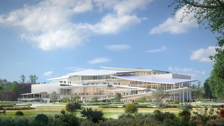 Baán László szerint még megépülhet: a japán SANAA építésziroda által tervezett Új Nemzeti Galéria végleges látványterve