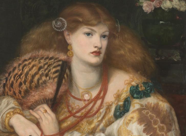 Dante Gabriel Rossetti: Monna Vanna, 1866, részlet