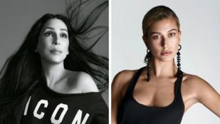 Hailey Baldwin és a nála 50 évvel idősebb Cher ugyanabban a divatkampányban szerepel