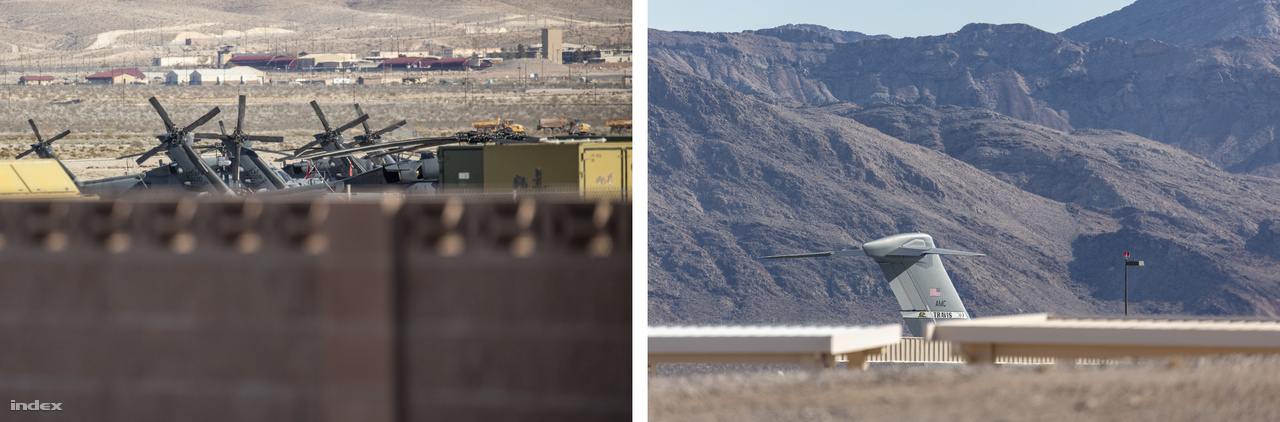 Ahogy bandukoltam kifelé a sivatagos területek felé, a kerítés fölött átlesve előbb helikopterek farokrotorjait, majd kicsivel később egy szállítógép farokrészét pillantottam meg. Nem tagadom, ekkor kissé izgalomba jöttem.