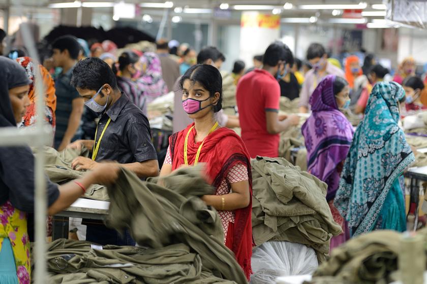 Textilgyár Bangladesben.