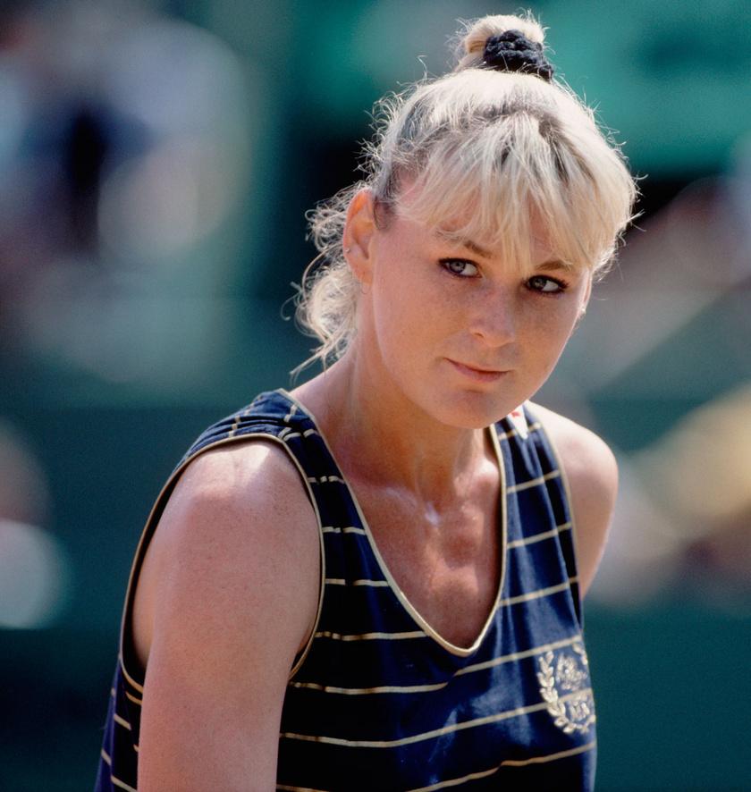 Temesvári Andrea 1991-ben a Roland Garros tenisztornán