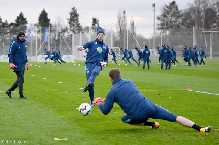 Petry (balra) egy korábbi Hertha-edzésen