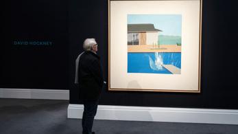 23 millió fontért kelt el David Hockney egyik medencés festménye