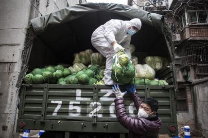 wuhan városba hozták a zöldséget