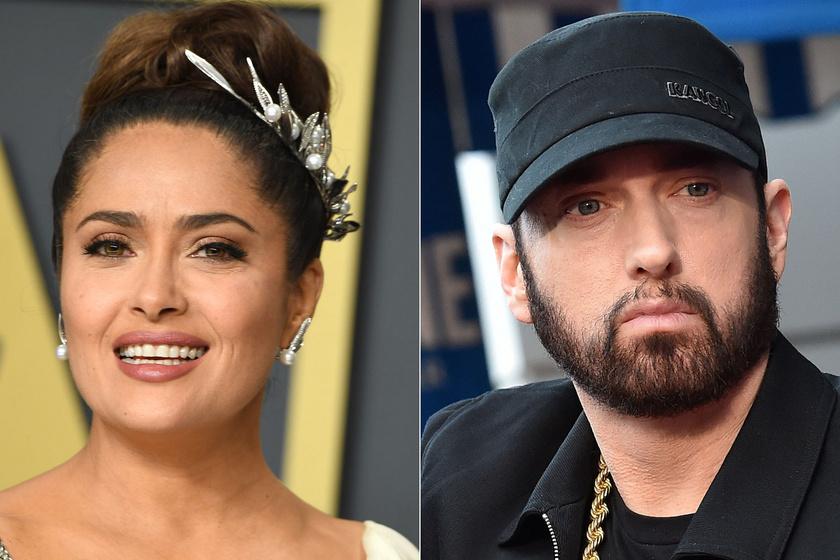 Salma Hayek ciki dolgot művelt Eminemmel - Kiderült, mi történt köztük az Oscar-gálán