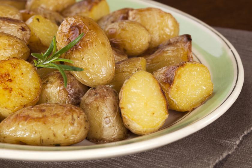 mustárral sült újkrumpli recept