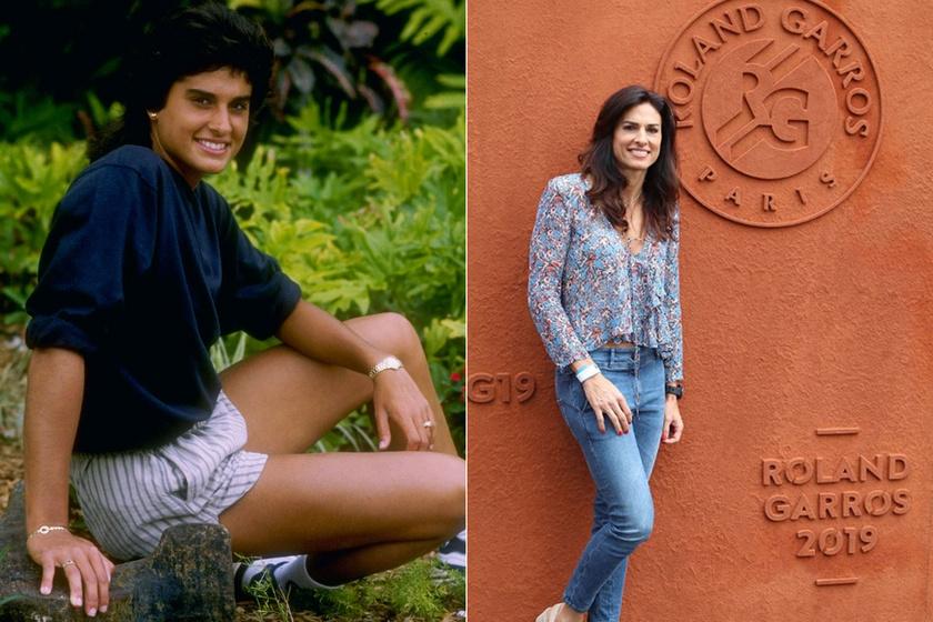 A bal oldali kép 1988-ban készült róla egy floridai bajnokság alatt, mára a sportos stílust jóval nőiesebbre cserélte.