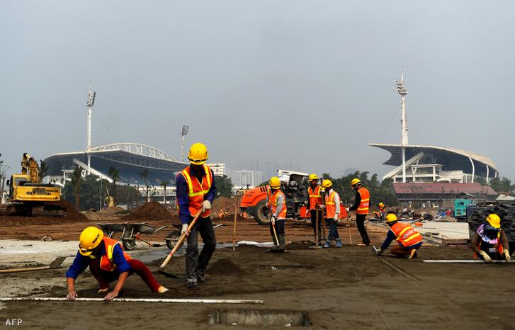 Az építés alatt álló hanoi versenypálya