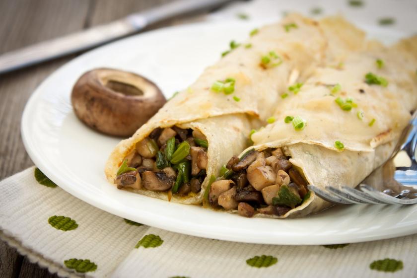 Sós palacsinta fűszeres gombával töltve – Egyszerű, mégis feledhetetlen ebéd