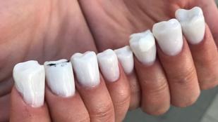 Csodásan gusztustalan a fog, kéz, láb, mell vagy vulva alakú műköröm