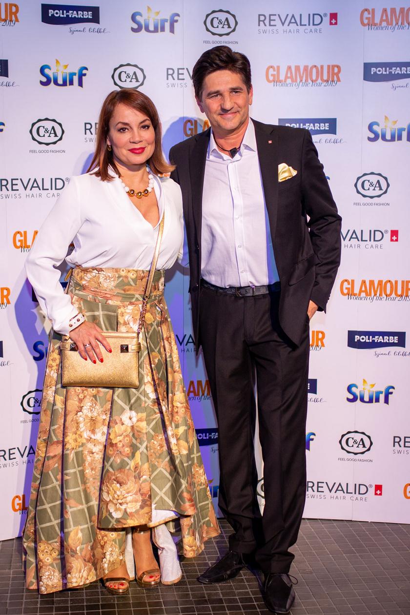 Csisztu Zsuzsa és férje a 2019-es Glamour-gálán.