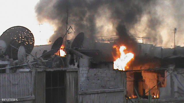 Homsz, ágyúzás után