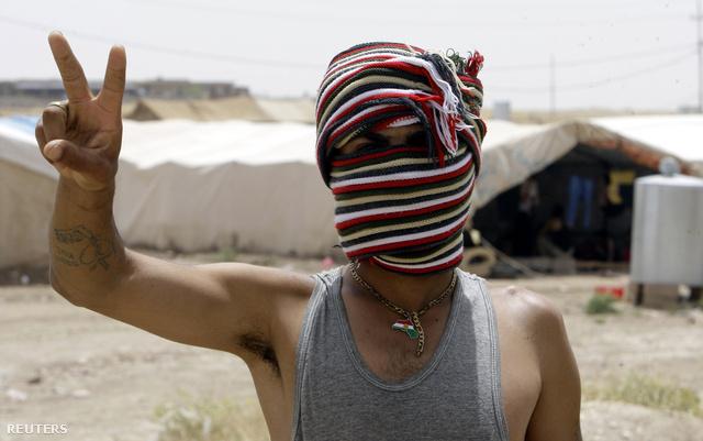 Szír menekült az iraki határon