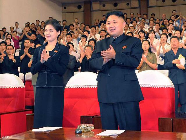 Kim Dzsongun és neje