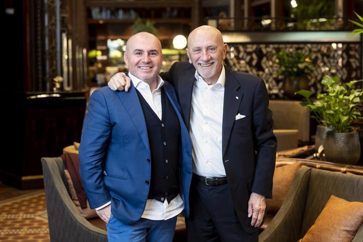 Herczeg Zoltán, a Dining Guide kiadója és Fausto Arrighi