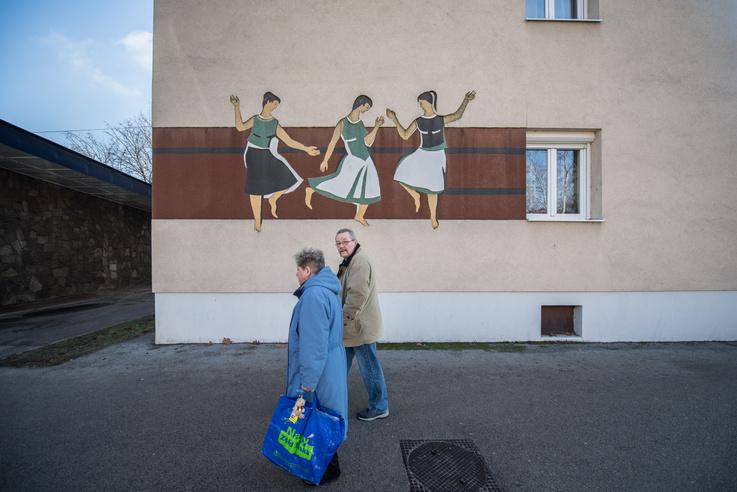 Ridovics László: Táncoló lányok, 1959.