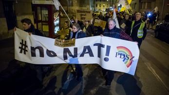 Az új NAT és szakképzési rendszer ellen tüntetett a PDSZ Budapesten
