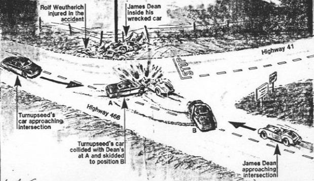 A baleset ábrázolása egy korabeli újságból