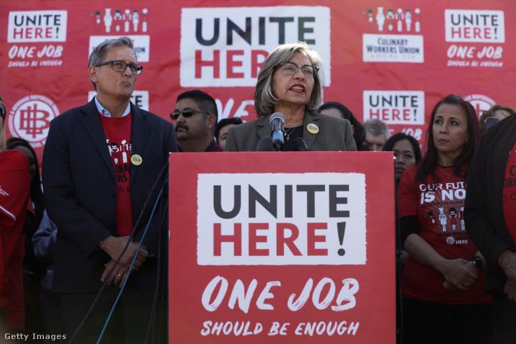 Geoconda Argüello-Kline a szakszervezet titkára 2020. február 13-án, Las Vegasban tartott sajtótájékoztatón jelentette be, hogy nem támogatják Bident