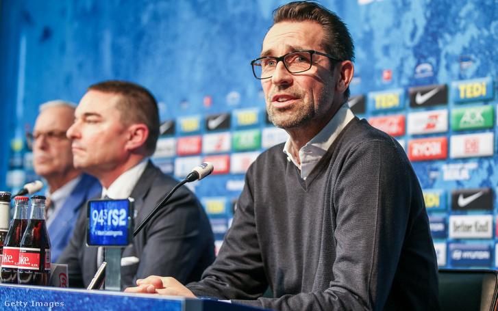 Michael Preetz klubigazgató a Klinsmann távozásáról tartott február 13-i sajtótájékoztatón