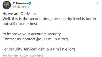 Feltörték a NOB és az FC Barcelona Twitter-fiókjait