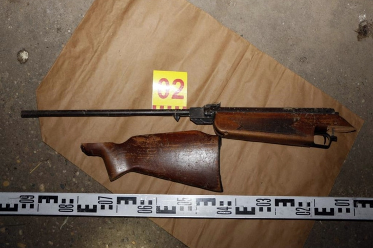Az a bizonyos légfegyver, amivel a kislány mellkason lőtte öccsét