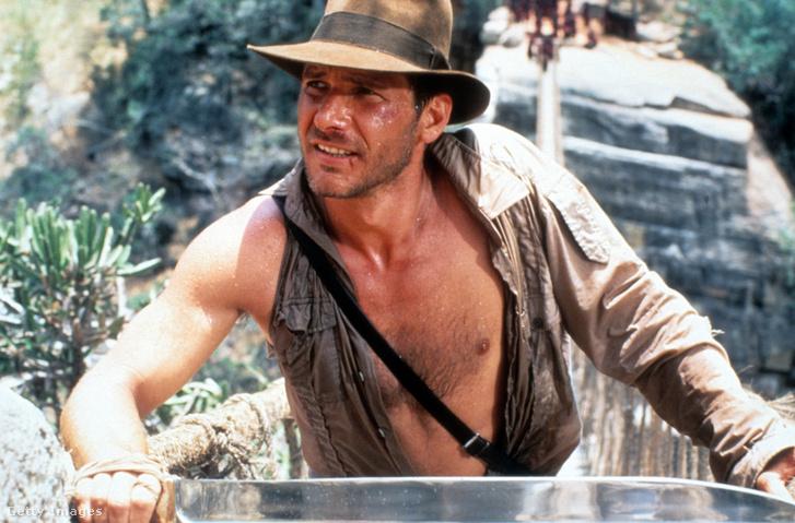 Harrison Ford az 1984-es Indiana Jones és a végzet temploma című filmben