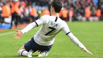 A 94. percben nyert Mourinho Tottenhamje