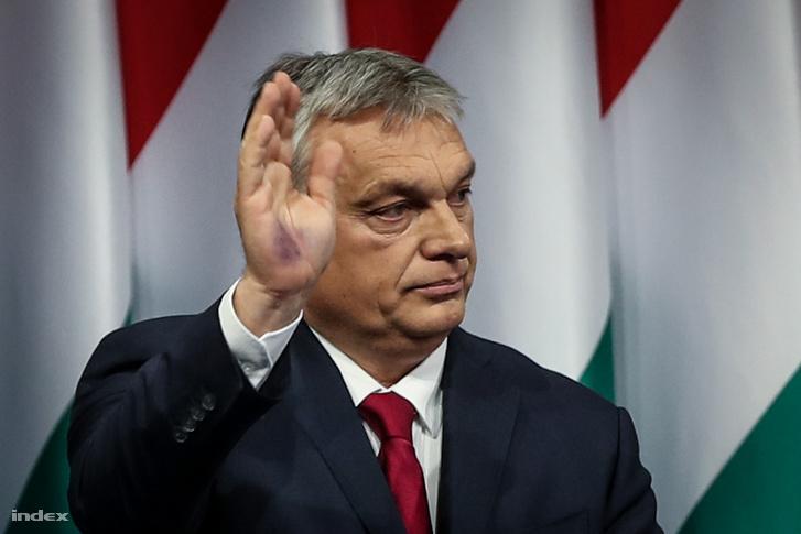 Orbán Viktor az évértékelőn