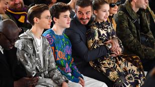Egy híján a teljes Beckham-család beült az anyuka divatbemutatójára Anna Wintour mellé