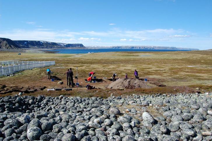 Régészeti ásatás Észak-Norvégiában