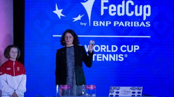 Kemény csoportban a magyar női teniszválogatott a budapesti Fed-kupa-döntőn